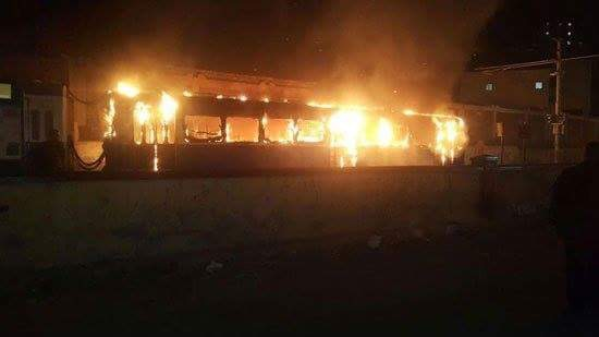 السيطرة على حريق بترام فيكتوريا بالإسكندرية