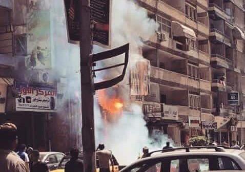 📷| حريق هائل بمطعم سوري بالإسكندرية