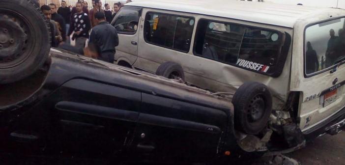 📷| إصابة 5 في تصادم أمام نادي المهندسين في سابا باشا