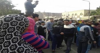 قطع طريق في شبرا بسبب انقطاع المياه
