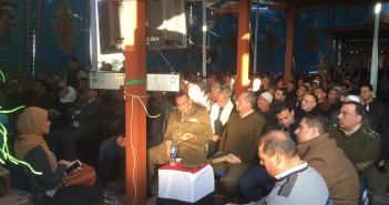 جلسة صلح عرفية تنهي خلاف عائلتين بإحدى قرى المنوفية بسبب مقتل شاب