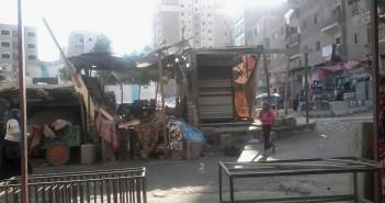أهالي عرب غنيم بحلوان يشكون انتشار الإشغالات على مدخل المنطقة