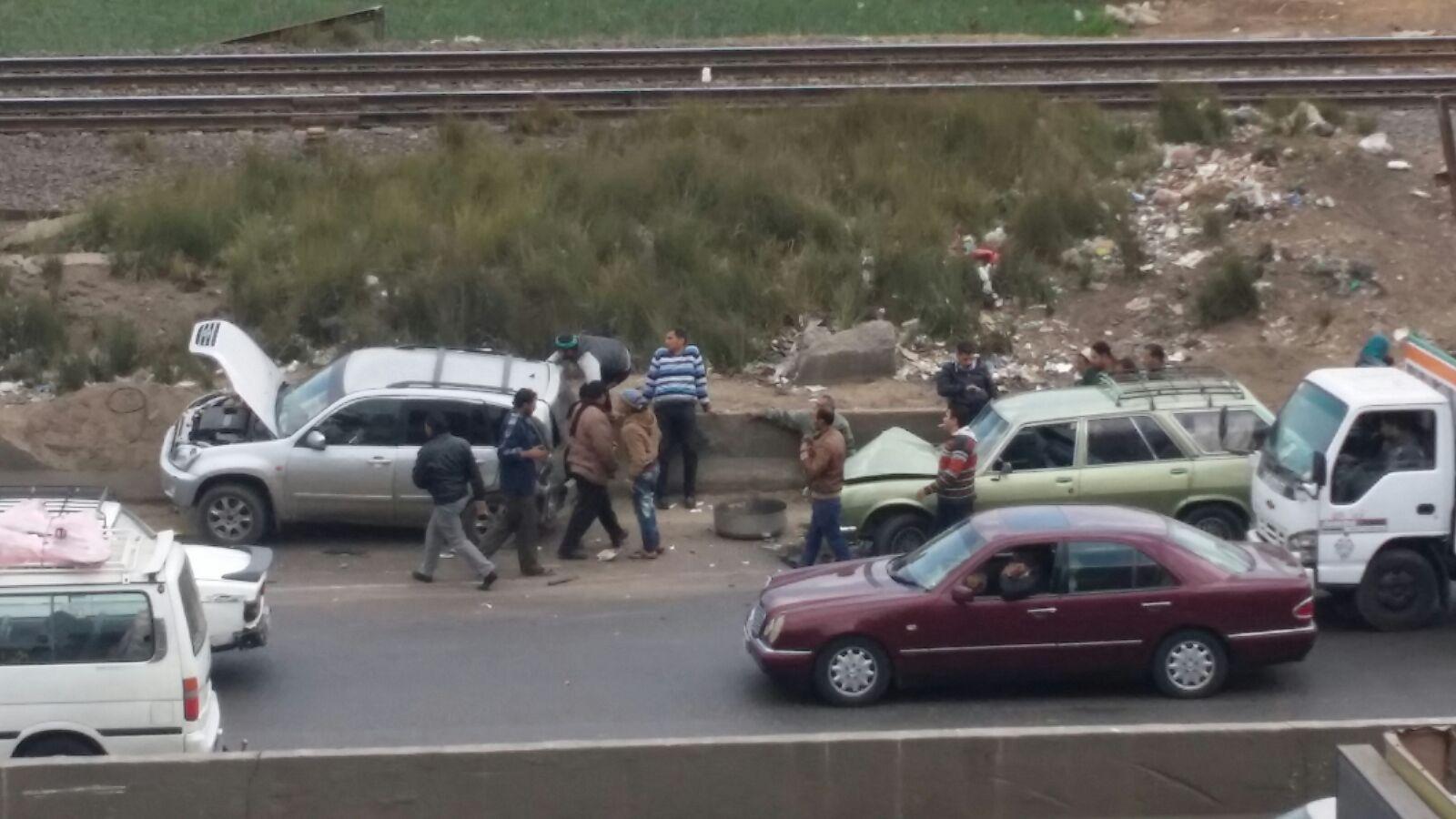 تصادم على طريق القاهرة ـ الإسكندرية الزراعي دون سقوط ضحايا