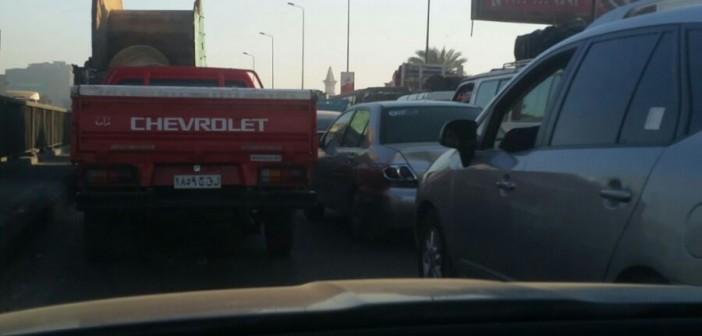 ⚠ زحام مروري شديد على طريق مصر ـ الإسكندرية الزراعي