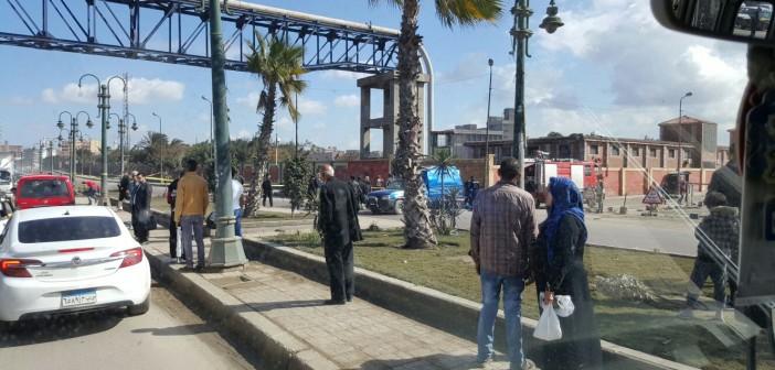 بالصور.. تفكيك عبوة ناسفة وضعت أسفل خط للغاز قرب محطة قود بالإسكندرية