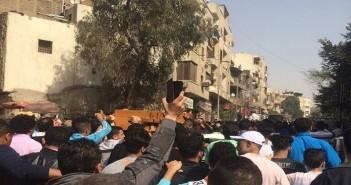 .. تشييع جنازة سائق الدرب الأحمر ضحية رقيب الشرطة