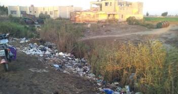 الظلام يخيم على شوارع إحدى قرى بلقاس.. وانتشار القمامة بشوارعها