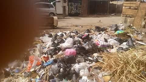 📷| تراكم القمامة على سور مدرسة البحرية بالمعصرة