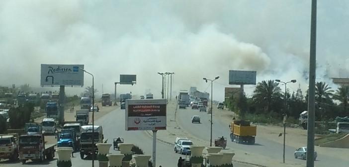 بالصور.. مواطنون يتضررون من مقلب قمامة أمام «الطاقة الذرية» بالإسكندرية
