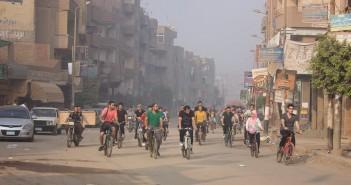 أول حدث لركوب دراجات في منيا القمح بالشرقية