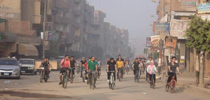 📷| بالصور.. أول حدث لركوب الدراجات في منيا القمح بالشرقية