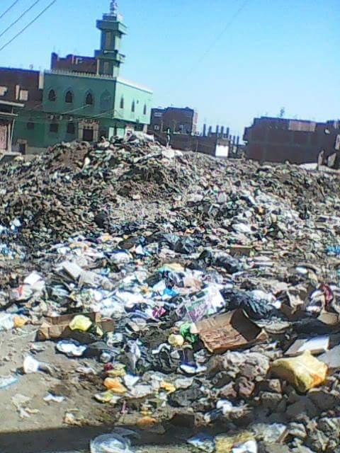تفاقم أزمة القمامة في حي أبو العباس بأسيوط