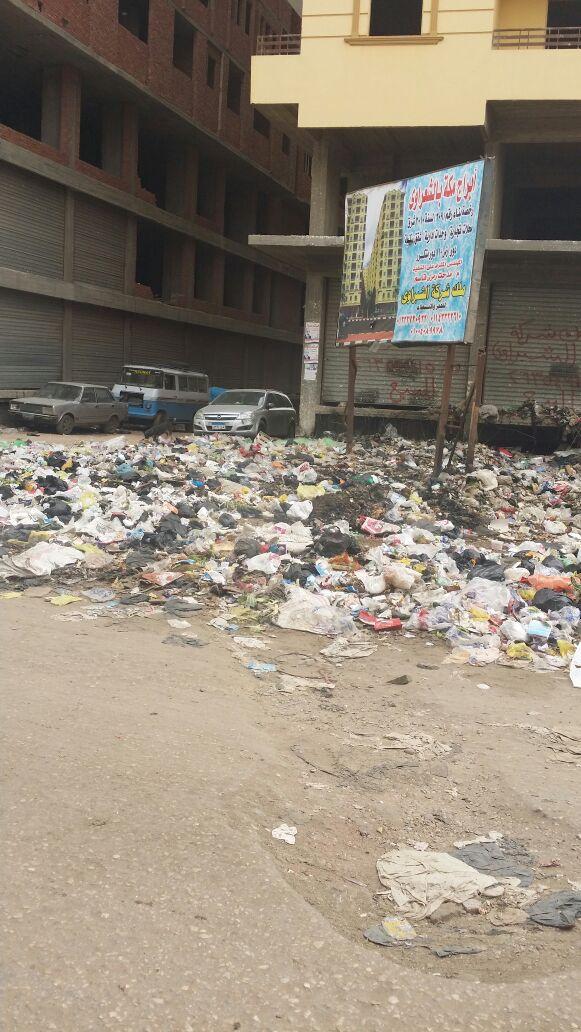 تفاقم مشكلة القمامة في شارع الشعراوي بشبرا الخيمة
