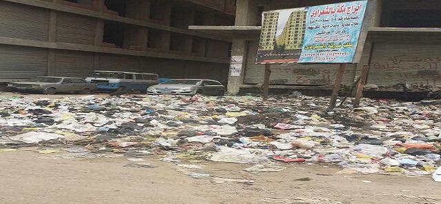 📷| تفاقم مشكلة القمامة في شارع الشعراوي بشبرا الخيمة (صورة)