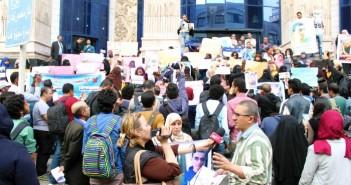 وقفة لأمهات المختفين قسريًا على سلم «الصحفيين» بشعار «ولادنا فين»