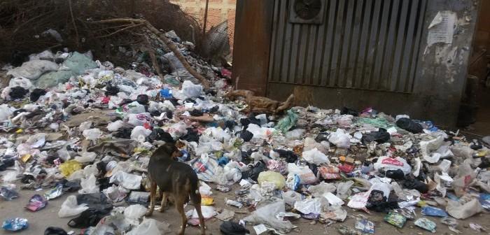 بالصور.. تفاقم أزمة القمامة بأرض اللواء يشُل المرور قرب المحور (شهادة مواطن)