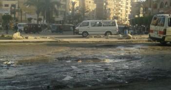 في الكيلو 21 ـ إسكندرية.. أزمة مرورية دائمة بسبب الصرف والأمطار