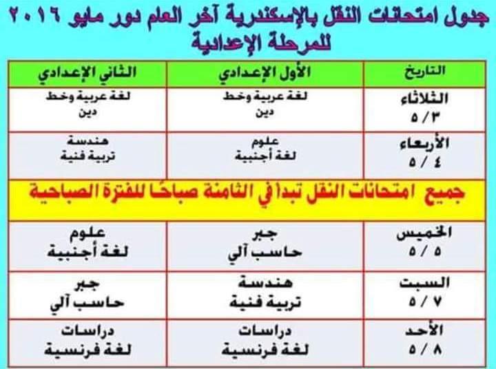 أولياء أمور بالإسكندرية يطالبون «التعليم» بتعديل جداول الامتحانات