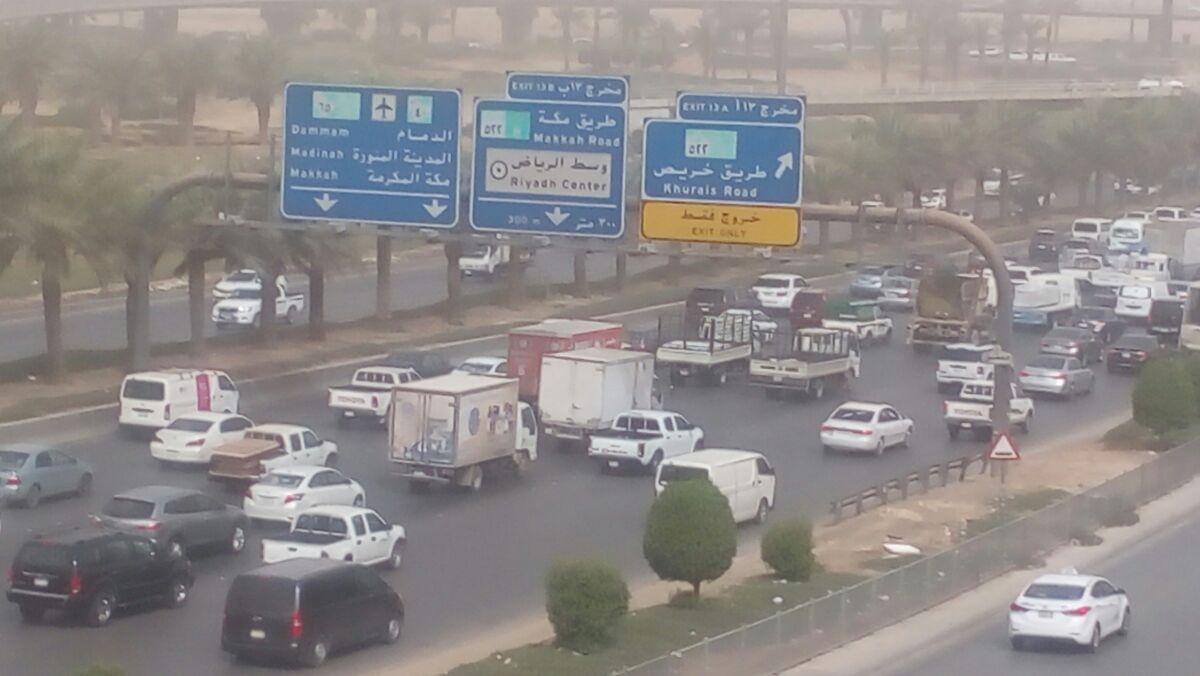 عواصف ترابية بالسعودية.. وضعف الرؤية في الرياض