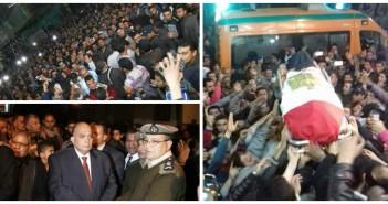 الآلاف يشيعون جنازة شهيد ميت غمر في انفجار بالعريش