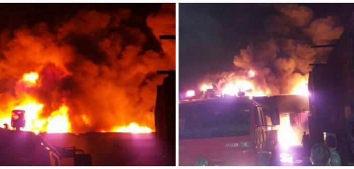 📷 بالصور.. حريق هائل بمصنع لإطارات السيارات بشبرا: دام 10 ساعات