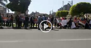 متقدمون لشقق الزواج الحديث يواصلون مظاهراتهم أمام ديوان «القاهرة»