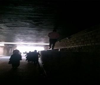 صور| غرق نفق سعد زغلول للمشاه بطنطا بعد عام من أعماله تطويره