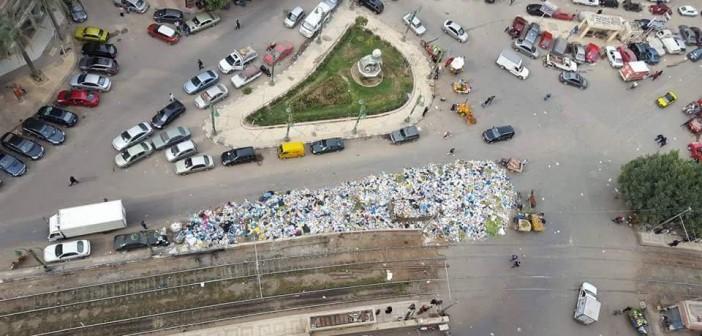 ▶| بالفيديو.. تفاقم أزمة القمامة في منطقة ترام سيدي بشر