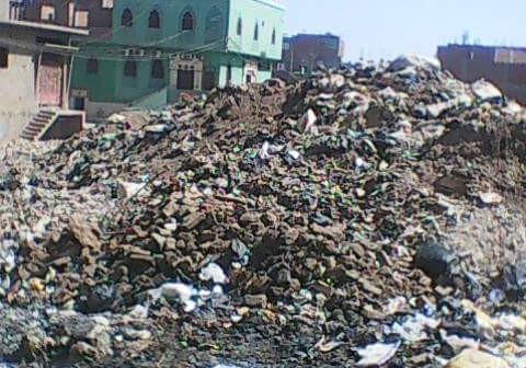 بالصور.. تفاقم أزمة القمامة في حي أبو العباس بأسيوط