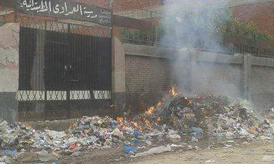 📷| حرق القمامة على أبواب مدرسة بالإسكندرية