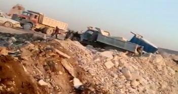 فيديو.. عمليات ردم بـ«كسر الرخام» للأراضي المنخفضة بالمنطقة الصناعية لشق الثعبان