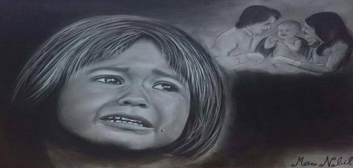 ميرنا نبيل.. فنانة شابة تبحث عن ملامح البشر في «بورتريه» (صور)