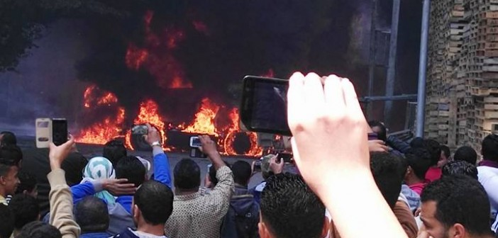 بالصور.. انفجار شاحنة مُحملة بالوقود قرب كهرباء الورديان غرب الإسكندرية