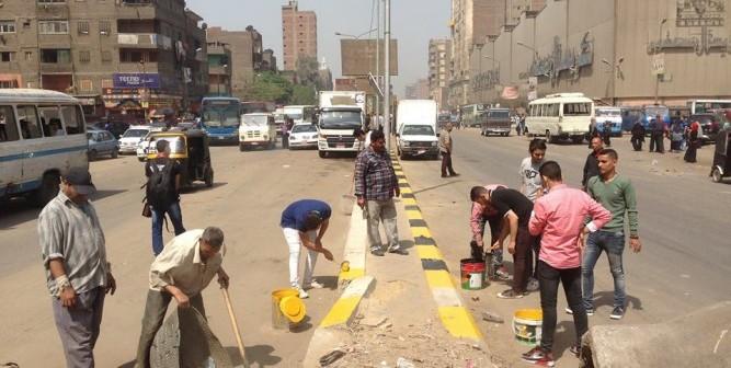 📷 حملة شبابية لتجميل شارع 15 مايو بشبرا الخيمة (صورة)