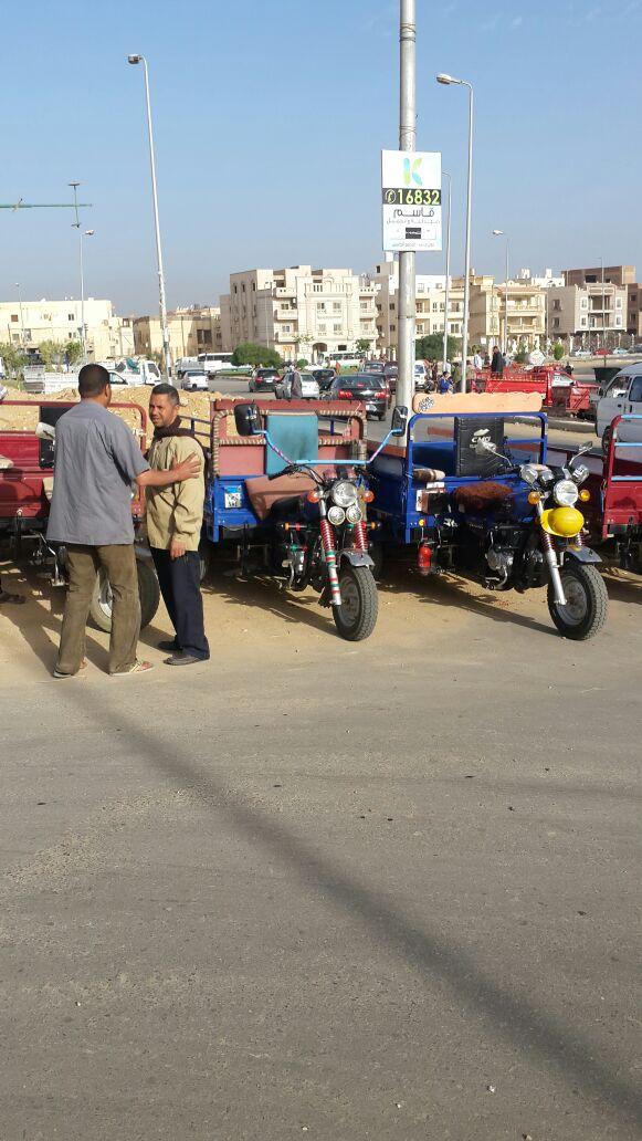 «التروسيكل».. وسيلة مواصلات تلاميذ المدارس في القاهرة الجديدة (صور)