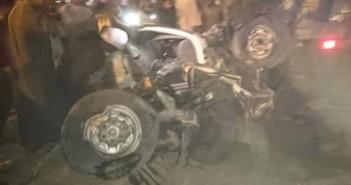 صور| حادث تصادم قطار بسيارة أجرة بأسوان (مصرع 8 وإصابة 6)