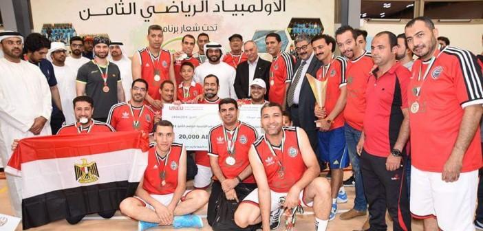 نادي «جمهورية مصر العربية» وصيفًا لشرطة دبي في «أولمبياد الإمارات» (صور)