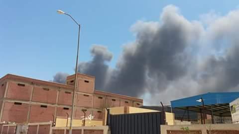 صور| حريق بشركة بترول غرب الإسكندرية دون إصابات