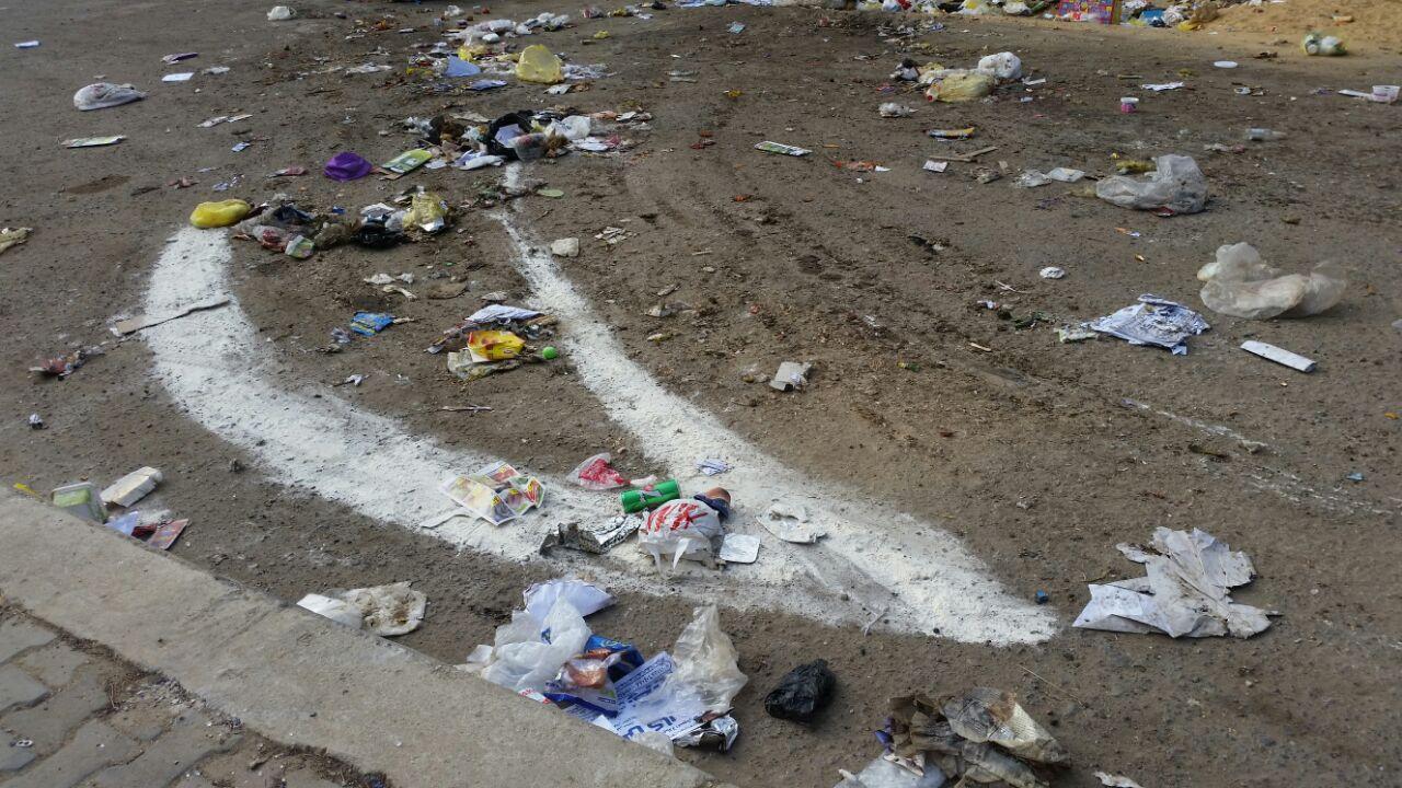 شركة نظافة دمرت صناديق القمامة بالتجمع الأول في القاهرة الجديدة