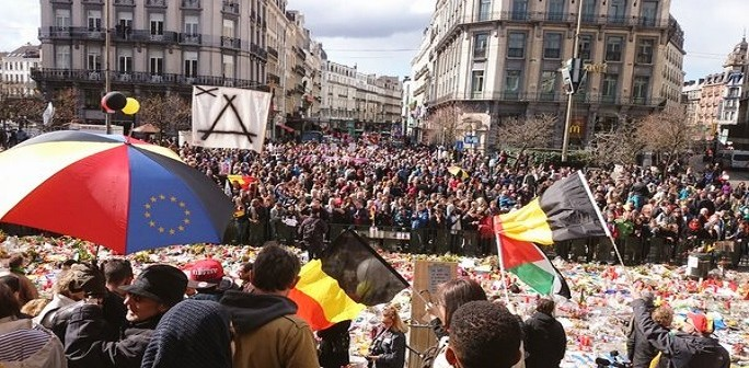 فيديو.. مسيرة ضد الإرهاب والكراهية تجوب بروكسل بحضور مسلمين وعائلات الضحايا