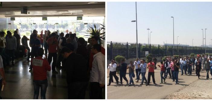لليوم الـ 14.. العاملون بـ«المصرية للاستيرنكس» يواصلون اعتصامهم لصرف مستحقاتهم (صور)