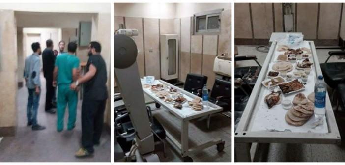 بالصور.. أجهزة الأشعة تتحول لطاولة طعام بمستشفى المنصورة