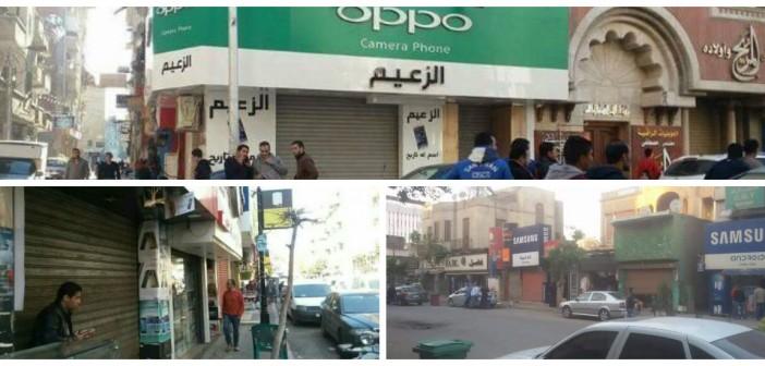 صور| غضب تجار شارع عبدالعزيز بعد حملة للمصنفات والتموين: «خراب بيوت»