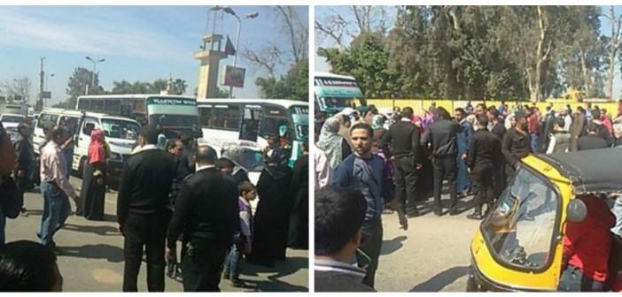 صور| قطع طريق الكورنيش بسبب وقف توزيع اللبن المدعم عبر الشركة المصرية
