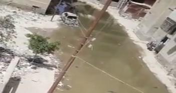غرق منطقة الكوكاكولا بالإسماعيلية في الصرف الصحي منذ أيام
