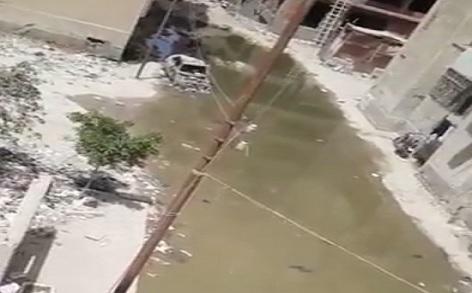 فيديو| غرق شارع بالإسماعيلية في الصرف الصحي منذ أيام