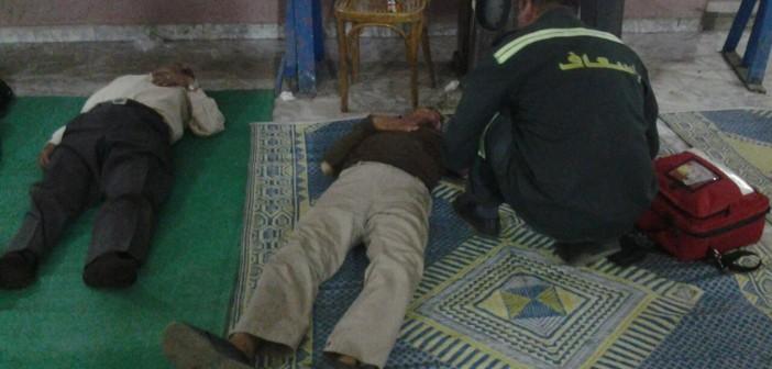 صور| إصابة أصحاب المعاشات المضربين عن الطعام بـ«التجمع» بالإعياء بينهم البدري فرغلي