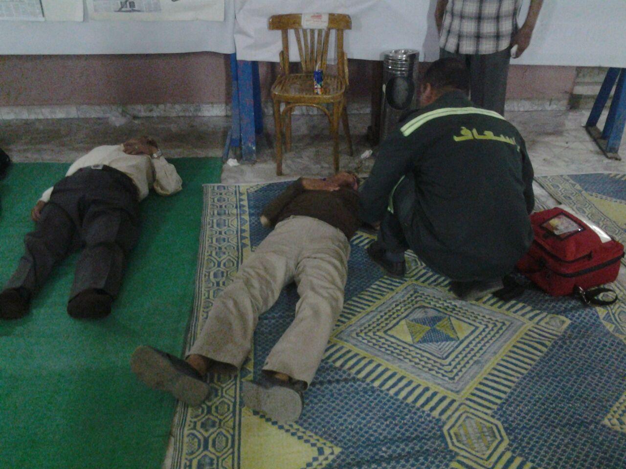 حالات إغماء بين أصحاب المعاشات المضربين عن الطعام بحزب التجمع بينهم البدري فرغلي