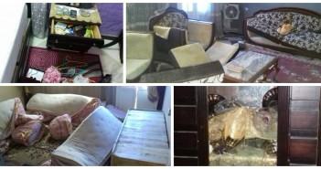 بالصور.. مواطن يتهم ضابطي وقوة شرطة قسم أطفيح بتحطيم منزله وإرهاب أسرته