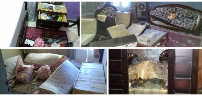 صور| مواطن يتهم ضابطين وقوة من قسم شرطة أطفيح بتحطيم منزله